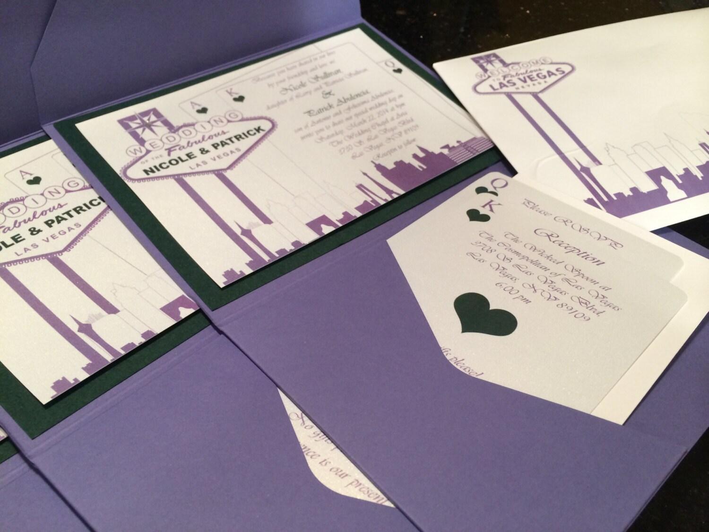 vegas themed wedding invitations las vegas wedding invitations Elegant Las Vegas Themed Wedding Invitation Custom Colors