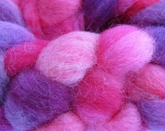 Shetland 'Pink Parade' Spinning Fiber 100g