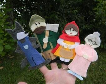 Little Red Riding Hood Finger Puppet Play Set