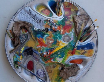 Spaceship Vincent - Homage to Van Gogh, round object