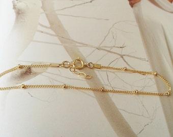 Gold balls bracelet, Gold filled balls bracelet, Delicate ball bracelet, Gold dots bracelet, Everey day bracelet