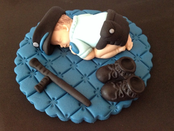 Local Edible Cake Images : Fondant edible Police baby cake topper