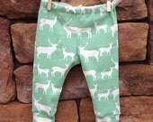 Elk organic Baby leggings, baby leggings, infant leggings, organic cotton leggings, animal leggings, baby outfit, gender neutral baby