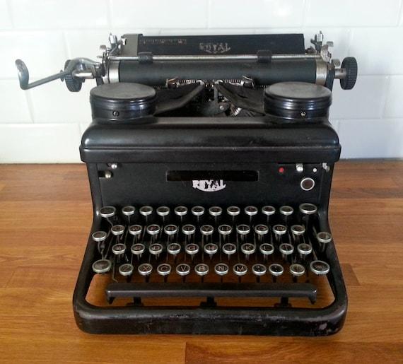 Antique Royal Typewriter Heavy Cast Iron. Vintage Decor