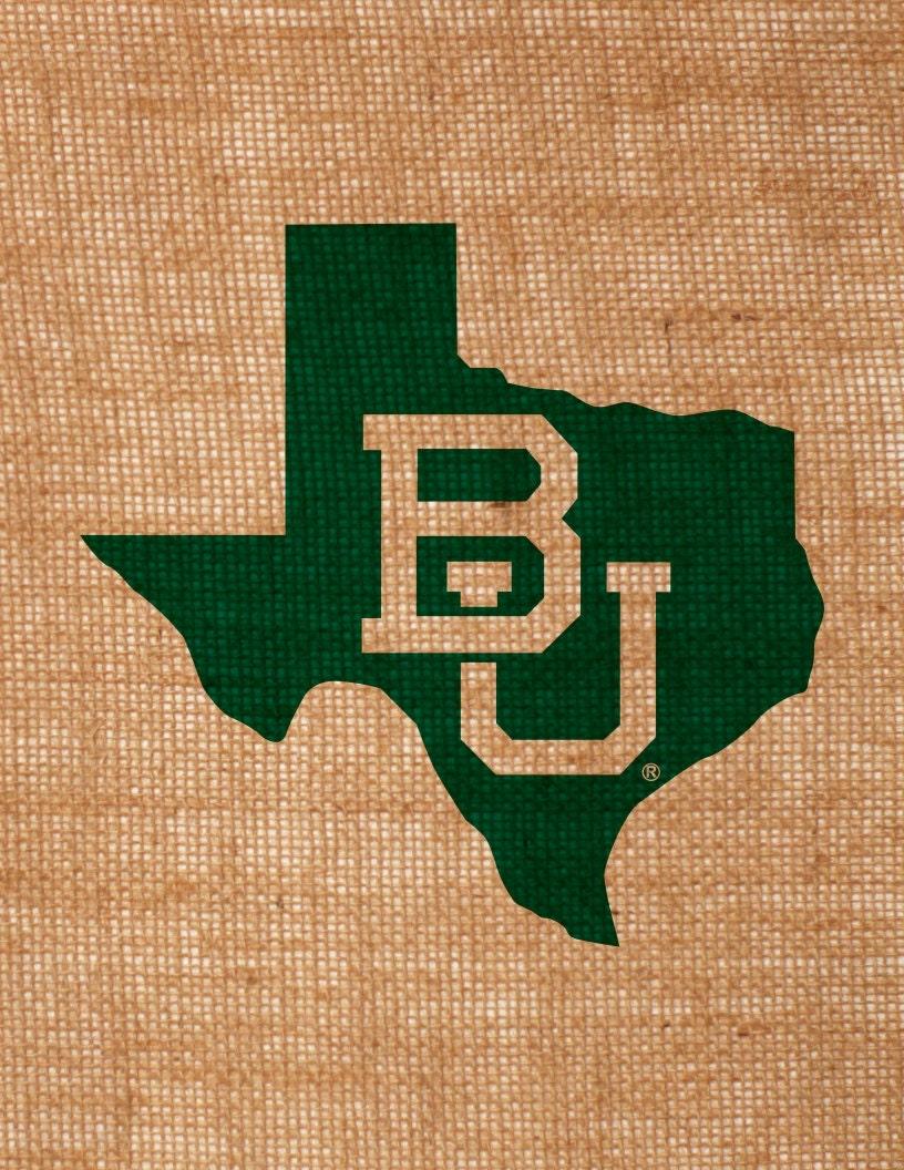 Baylor University Burlap Wall Art Interlocking Bu In State Of
