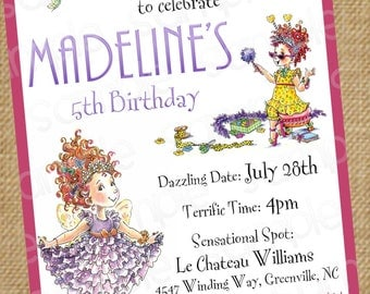 Fancy Nancy Customizable Birthday Invitation