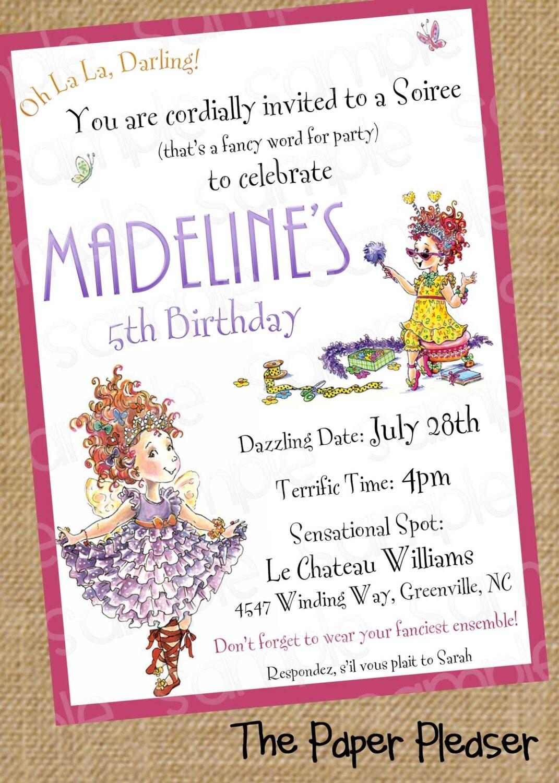 Fancy Nancy Customizable Birthday Invitation