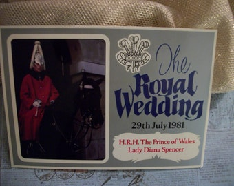 The Royal Wedding Postcard - HRH The Prince of Wales Lady Diana Spencer