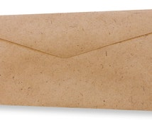 25 Natural Paper Envelopes- Natural