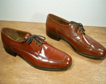 Vintage Stacy Adams Made in USA Brown Leather Men's Work Pimp Dress Shoes Oxford Size 11