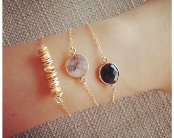 14k Gold Bar Bracelet