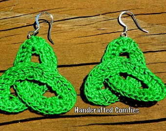 Crochet Triquetra Earrings