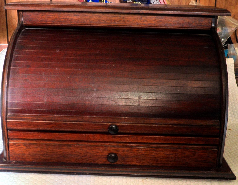 Wood rolltop desk organizer - Wood desk organizer ...