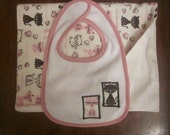 BABY GIFT SET - Girl - Pink/Bl Furry Friends - 2 piece