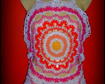 Halter top with mandala design