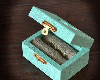 Wedding Ring Box, Ring Bearer , Ring Pillow, Rustic, Vintage style