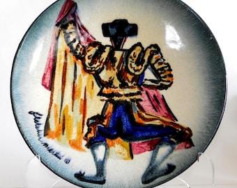 Mid Century Pottery Ceramic Plate Bowl Platter Charger California Artist Fletcher Martin Stonelain Ceramic 1950s