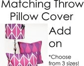 Throw Pillow Cover Add On - Match Your Throw Pillow to Your Lamp Shade