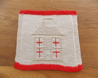 Dishcloth pattern, house