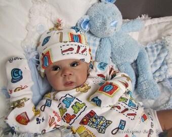 "20"" newborn cross over vest set sewing pattern"
