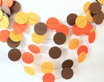 Thanksgiving Garland, Fall Decor, Fall Garland, Autumn Garland, Paper Garland, Fall Wedding Decor, Fall Wedding