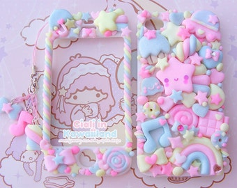 Kawaii Decoden Case - Sugary Sky case - Super cute kawaii full body front back case iphone 4/5/5s/6/6s/7 galaxy s3/s6/s7