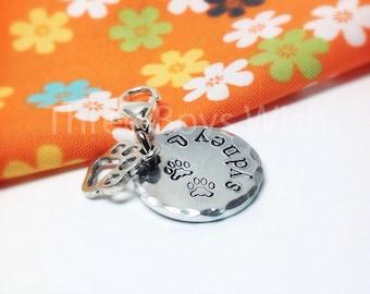 Small, Medium, Large Pet ID Tag Custom Hand Stamped