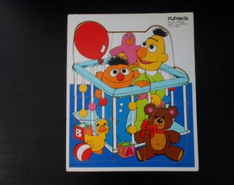 Bert and Ernie 9 Piece Tray Puzzle by Play Skool and Muppets Inc.