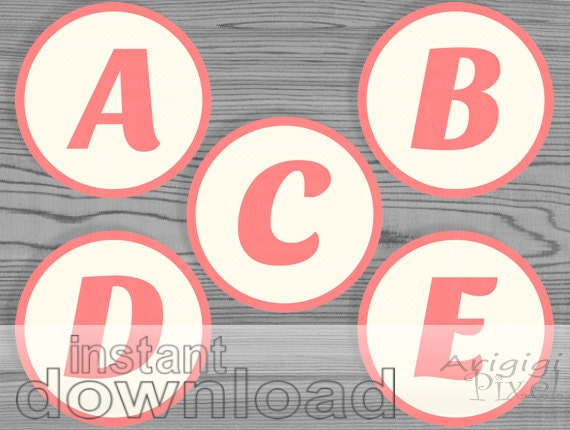 Capital Letters Number Circles For Personalized By