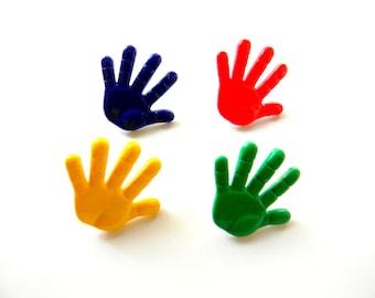 Thumbtacks - Hands Pushpins - Set of 4