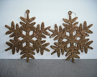 Snowflake, Glitter Gold, 2 pieces (197)