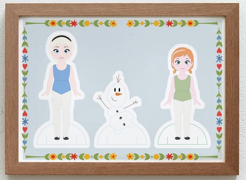 Paper Dolls Printable Printable Paper Doll Set Anna