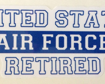 Military Decal- Retired Air Force