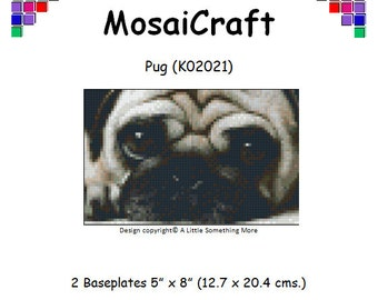 MosaiCraft Pixel Craft Mosaic Art Kit 'Pug' (Like Mini Mosaic and Paint by Numbers)