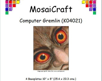 MosaiCraft Pixel Craft Mosaic Art Kit 'Computer Gremlin' (Like Mini Mosaic and Paint by Numbers)