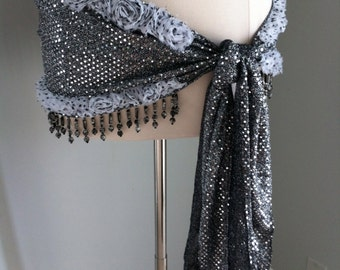 RUFFLE Belly Dance Hip Scarf