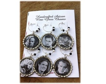 Legendary Marlon Brando Wine Glass Charms