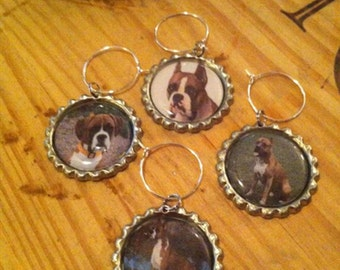Boxer Wine Glass Charms
