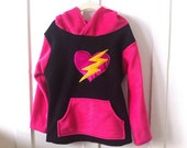Girl's Fleece Heart Hoodie