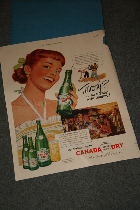 1948 Canada Dry Magazine Advertisement (Saturday Evening Post)