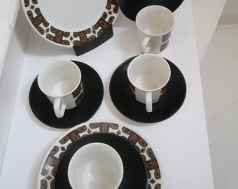 Jessie Tait,  Midwinter ' Moari' design Coffee set
