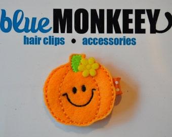 Smiling Pumpkin Hair Clip