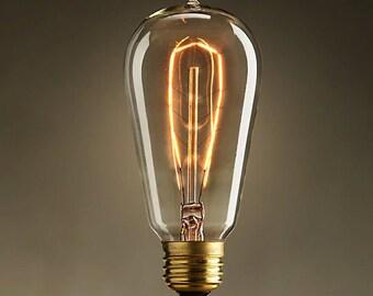antique vintage style edison bulb light bulbs 40w 60w 110v 220v. Black Bedroom Furniture Sets. Home Design Ideas
