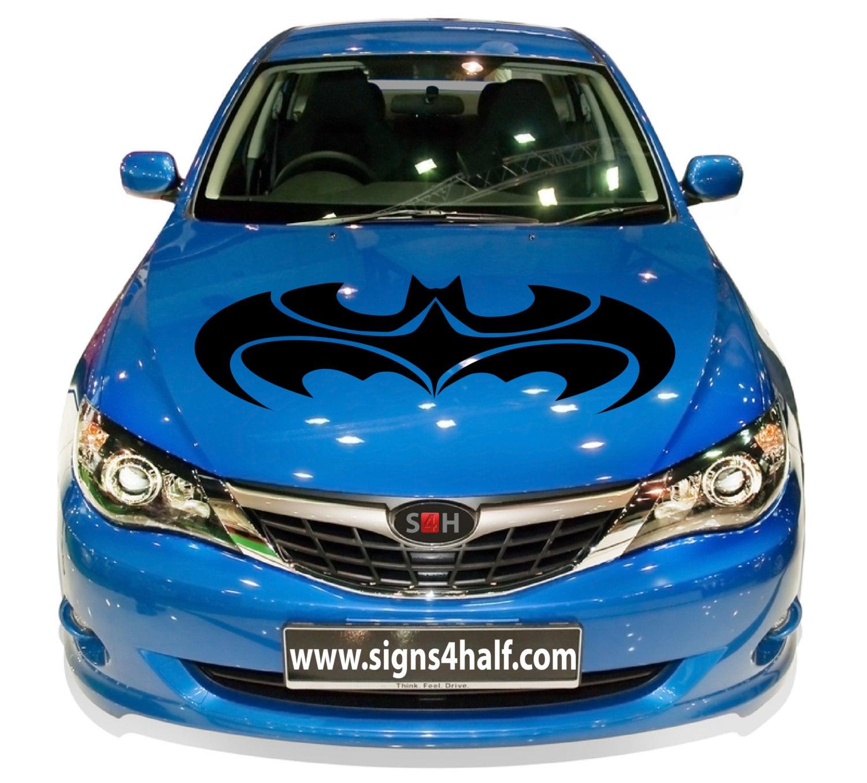 batman robin logo auto car hood decal vinyl sticker mural all. Black Bedroom Furniture Sets. Home Design Ideas
