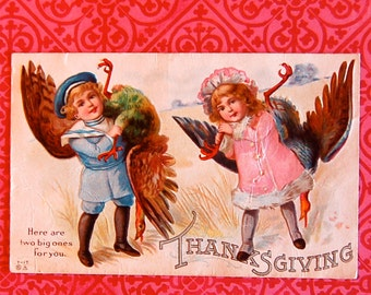 Vintage Thanksgiving Turkey Post Card
