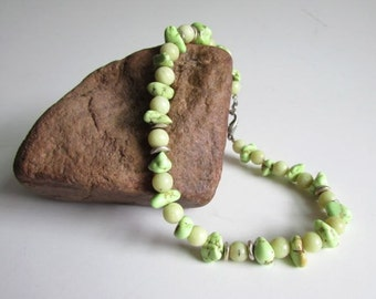 Lime Green Turquoise Bracelet