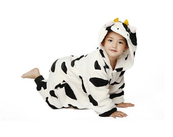 Halloween Xmas gift KIGURUMI Animal  Pajamas Pyjamas Costume Onesie Kid SLOTH cow