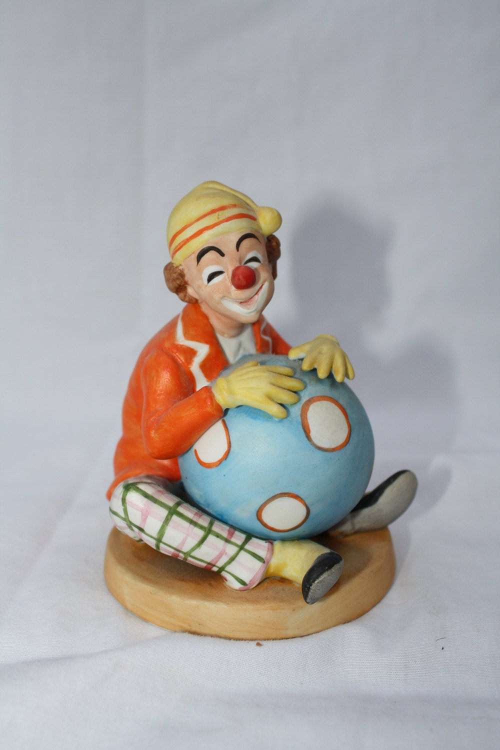 Lefton China Vintage Clown Porcelain Figurine By