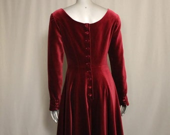 Luscious Deep Maroon Velvet Dress Inaugural Parties Holidays Formal Functions