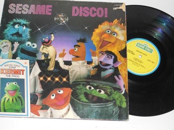 "1977 12"" Sesame Street Sesame DISCO! Childrens Record"
